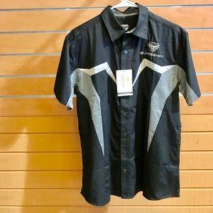 Polaris Slingshot Pit Crew Shirt Mens Black